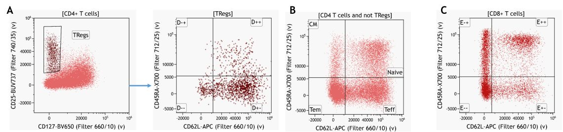 Knowledge-driven identification of regulatory T-cells and their subsets